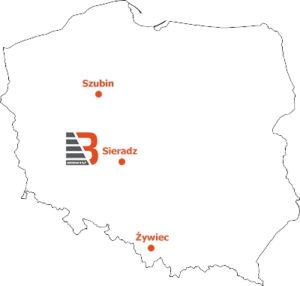 Mapa punkty serwisowe